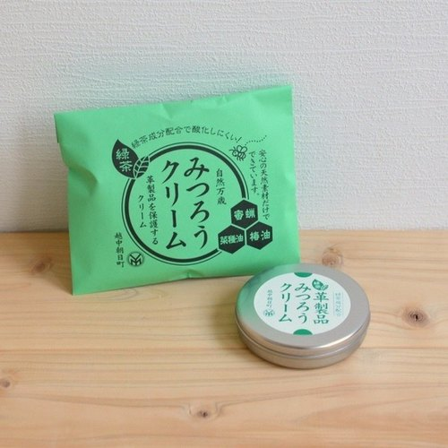 Micro forest. Japan imported natural beeswax cream with green tea 40g TN leather shoes leather wallet handmade leather care