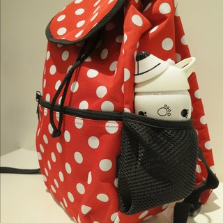 TiDi latest fashion little red and white backpack
