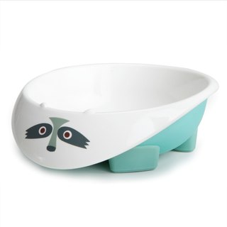US MyNatural Eco-toxic children's tableware - ice blue raccoon Bowl