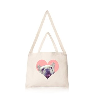 Love fighting in the French Cultural & Creative wind horizontal canvas bag