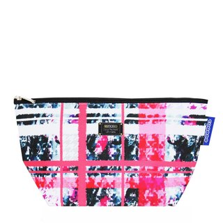COPLAY  cosmetic bag-pink plaid sweet heart