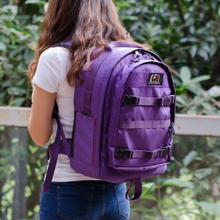 large capacity camera backpack camo purple Black