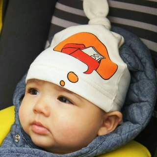 CLARECHEN baby thinking cap is thinking about red bag