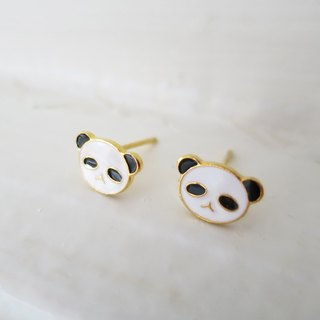 Panda's well-worn pin earrings