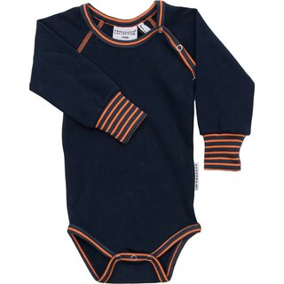 European infants and young children with organic cotton piping fart clothing dark blue