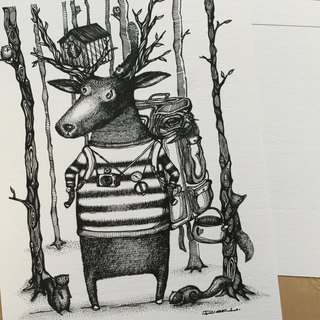 Lost in the Wood - artwork available in Greeting Card