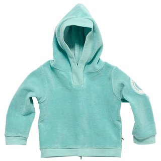 [Design] Nordic organic cotton infant hoodie green lake (for 6M-3Y) Shampoodle Kids
