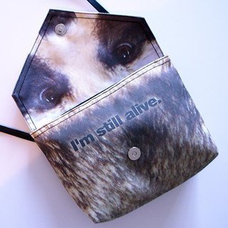 Anti-Fur Shoulder Bag--the THANK YOU Bag (Raccoon Dog)