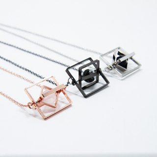 Floating Universe Necklace (Triple Square)