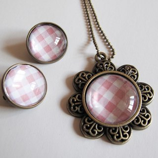Scotland pink necklace pattern ear clip ear acupuncture group