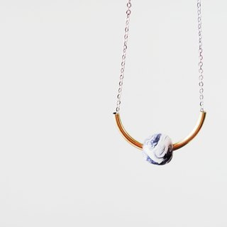 Marble Purple Arc Necklace-32