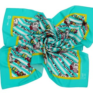 Little Miss Hug x Artify Me tiffany blue square scarf