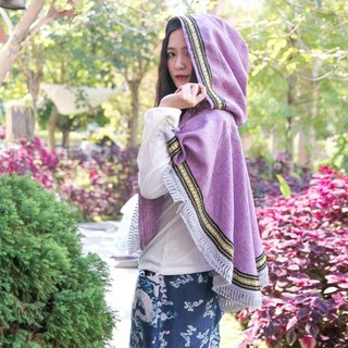 Mark A Suya deals with fringed hem cotton style cloak