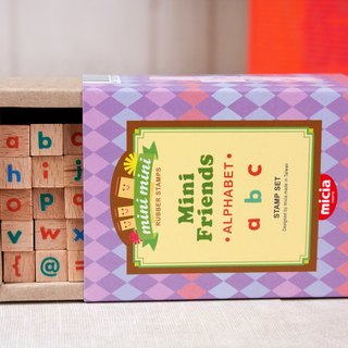 Lowercase letters POP Font Stamp Set