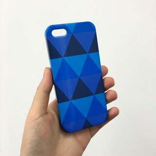 Geometric sky blue triangle 3D Full Wrap Phone Case, available for  iPhone 7, iPhone 7 Plus, iPhone 6s, iPhone 6s Plus, iPhone 5/5s, iPhone 5c, iPhone 4/4s, Samsung Galaxy S7, S7 Edge, S6 Edge Plus, S6, S6 Edge, S5 S4 S3  Samsung Galaxy Note 5, Note 4, Not