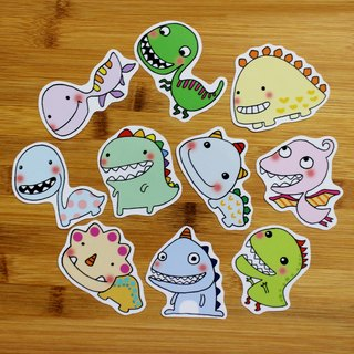 Waterproof sticker set (small) _ small dinosaur series (set of 10)