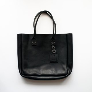 Billykirk leather tote 8oz Horween black leather