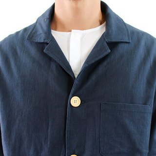 Chainloop blue leisure suit jacket are simple basic models