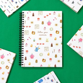 Boge stationery x taste life [48K coil hardcover checkered notes] two designs