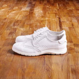 Vanger elegant beauty ‧ sports trend carved casual shoes Va172 white