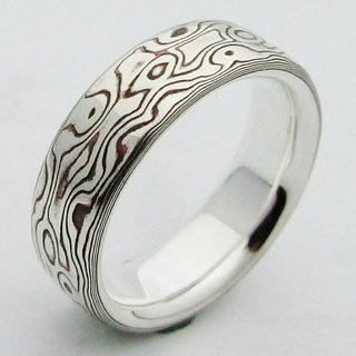 Element 47 Jewelry studio~ mokume gane ring 12 (silver/copper)
