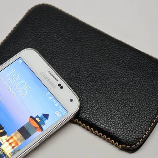 Samsung S5 Straight Leather Case