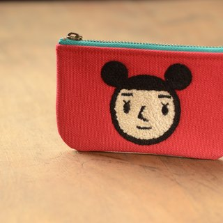 [BestFriend] waterproof canvas purse (red - girls head)