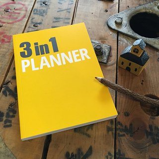 [Nuts Design] 3 in 1 Planner 筆記本 - 黃