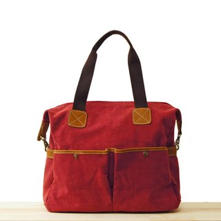 [Happa] whims large capacity tote bag - stonewashed canvas classic (Wine Wine Red) to exchange gifts Required