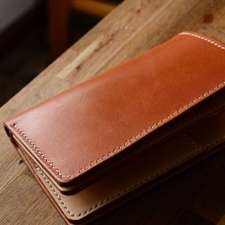 Japan Tochigi saddle leather tanned with primary medium two-fold wallet wallet fiscal cloth customized Brown