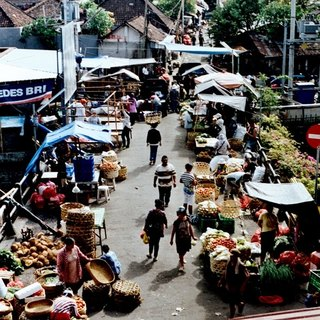 Photography Universal postcard - Travel Series - Afternoon Market
