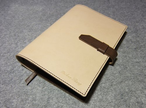 YOURS handmade leather jumper style loose-leaf notebook A5 size with color stitching show
