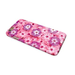 Pink Morning Glory Floral pattern 3D Full Wrap Phone Case, available for  iPhone 7, iPhone 7 Plus, iPhone 6s, iPhone 6s Plus, iPhone 5/5s, iPhone 5c, iPhone 4/4s, Samsung Galaxy S7, S7 Edge, S6 Edge Plus, S6, S6 Edge, S5 S4 S3  Samsung Galaxy Note 5, Note