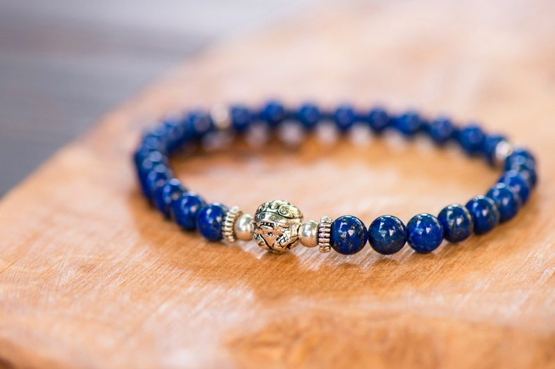 【Woody'sHandmade】招財。青金石貔貅手串。Prosperity -  Lapis lazuli with pí xiū, Regular version