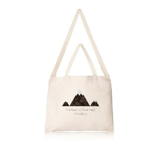Mountaineering?! Do not confuse me horizontal canvas bag