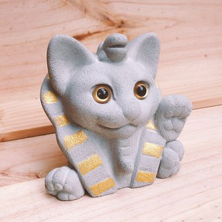 Pharaoh DollarCat -  Concrete NameCard Holder