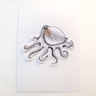 Waterproof big octopus sticker