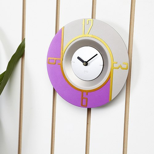 Swap timepiece series (purple geometric clock face) Fashion Clock