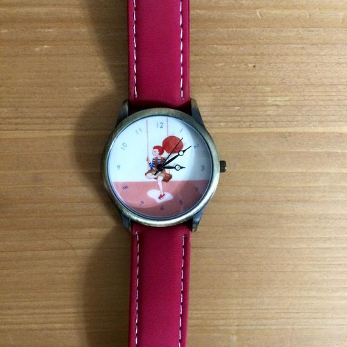 """Art of the fish,"" we find out each other's personality, but an exchange of each other's really the best holiday gift list illustration outfit Jewelry Watch (pink strap) --W0004"