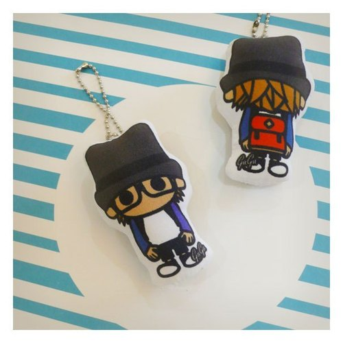 Sided baby ◐ friends Charm ((MG)) ☌ after the personality backpack / Red