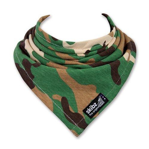 """'Britain skibz"" dark green camouflage classic fashion scarves"