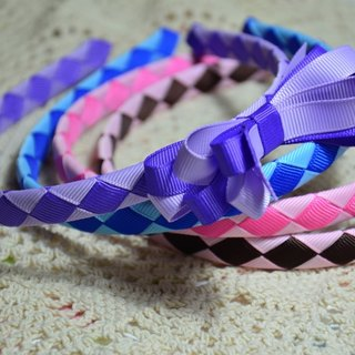 Braided hair bands temperament