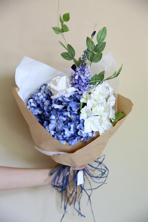 Royal Blue Medium Flowers Bouquet