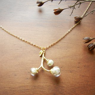 *coucoubird*branches small fruit necklace - gold