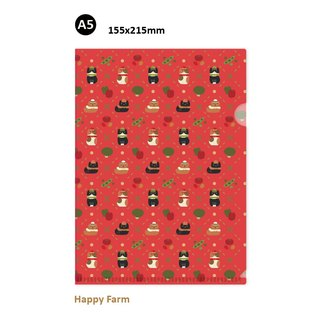 hime's cats happy farm A5 L Folder