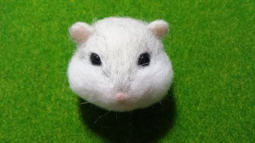 ☆ wool felt hamster head Tsai ☆ (customized)