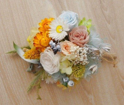 Wilderness Amaranth mix dried bouquet (wedding photo size)