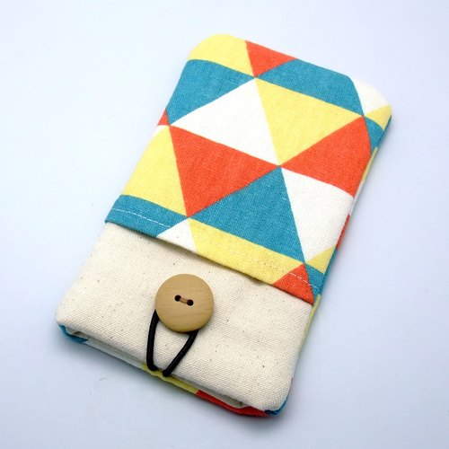 iPhone sleeve, Galaxy S4, S3, Galaxy Note 3, Note 2 pouch cover homemade mobile phone bags, mobile phone bags, cloth cover, (which can be tailored) - triangular pattern (P-15)