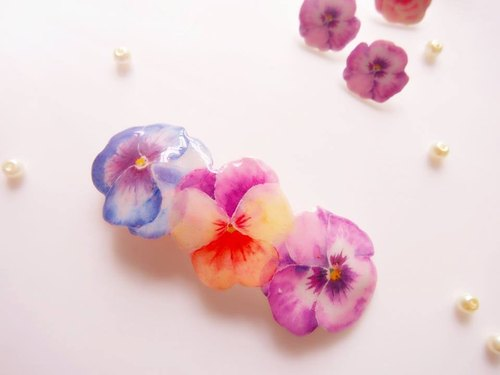 Tammy St. Meow Meow series glossy sweet blooming flowers hairpin hair accessories