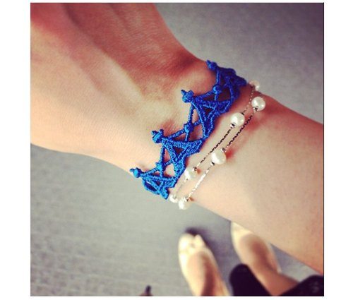 Missiu French lace embroidery lucky bracelet - Romantic Tower chanson !!